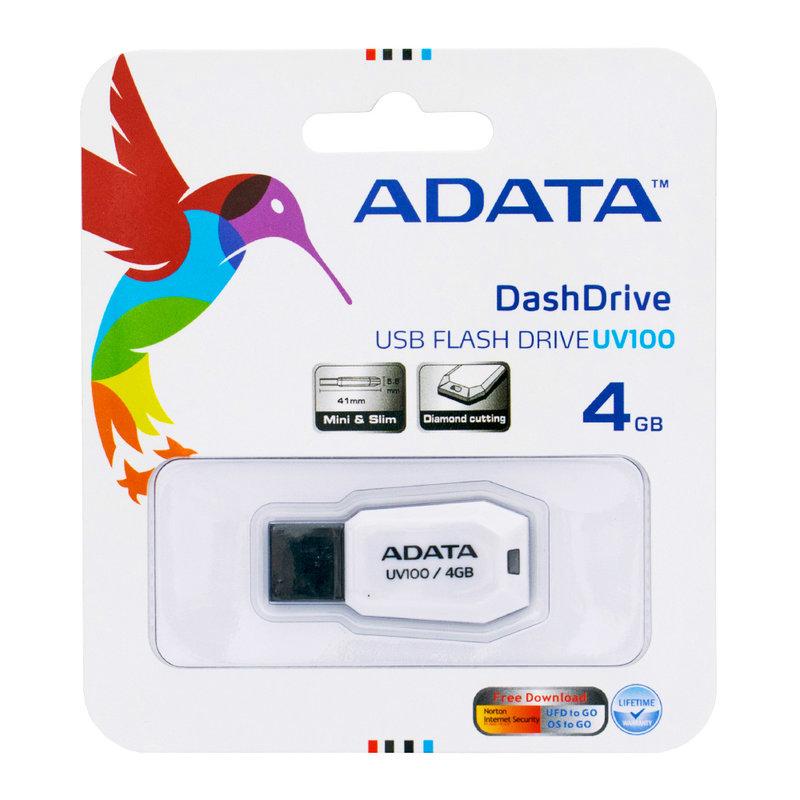 Stick Memorie ADATA DashDrive UV100 4GB - White