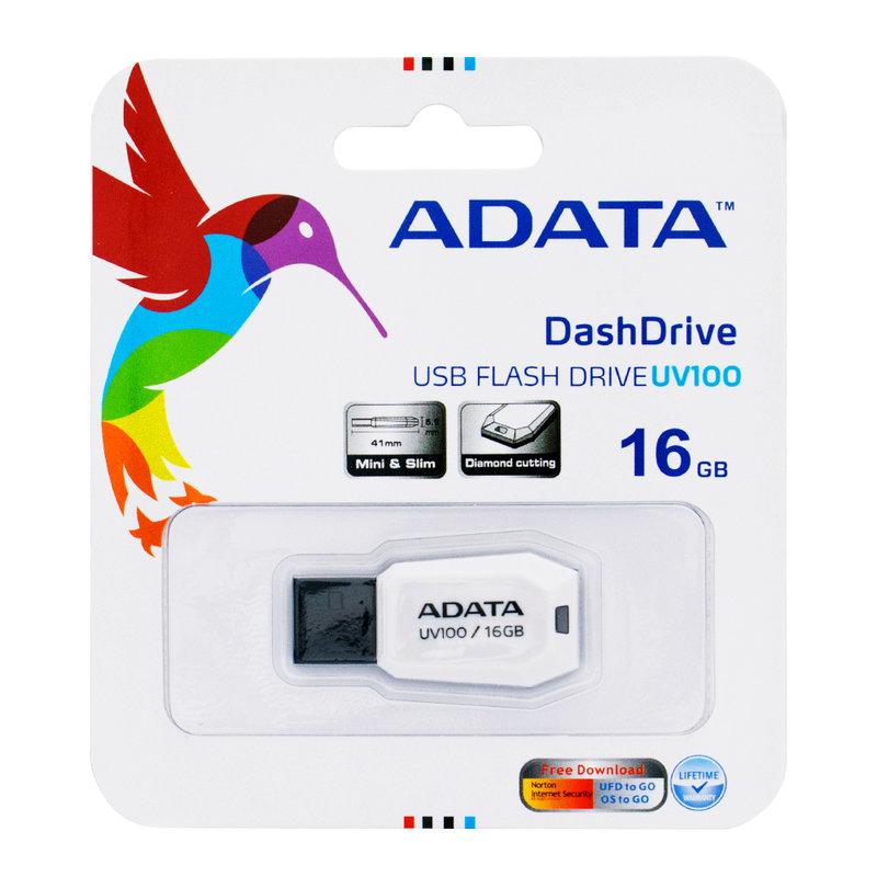 Stick Memorie ADATA DashDrive UV100 16GB - White