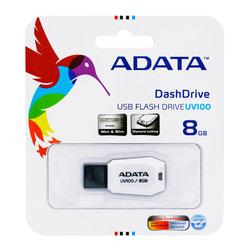 Stick Memorie ADATA DashDrive UV100 8GB - White