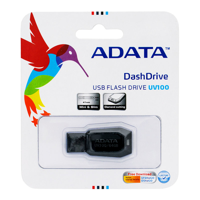 Stick Memorie ADATA DashDrive UV100 64GB - Black