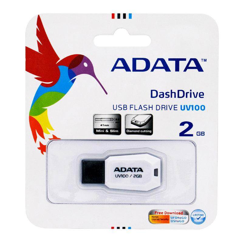 Stick Memorie ADATA DashDrive UV100 2GB - White