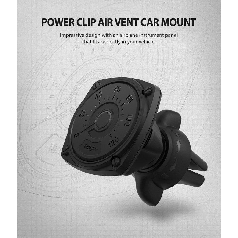 Suport Auto Pentru Grila De Ventilatie Magnetic Ringke Power Evo - Black
