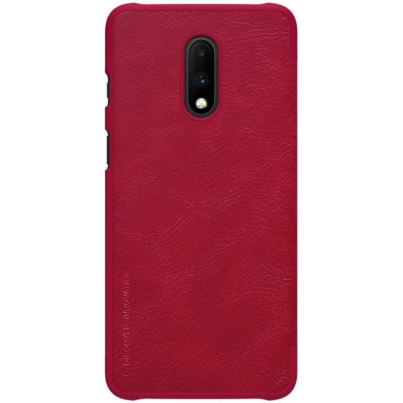Husa OnePlus 7 Flip Nillkin QIN Rosu