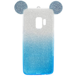 Husa Samsung Galaxy S9 Gradient Color TPU Mouse Bling Glitter - Albastru