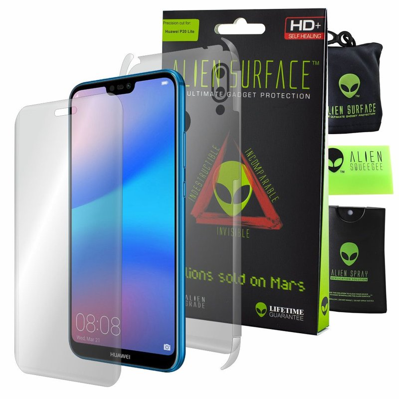 Folie 360° Huawei P20 Lite Alien Surface XHD, Ecran, Spate, Laterale - Clear