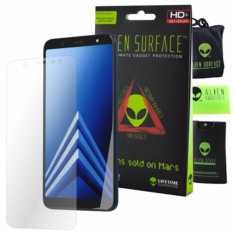 Folie Regenerabila Samsung Galaxy A6 Plus 2018 Alien Surface XHD, Full Face - Clear