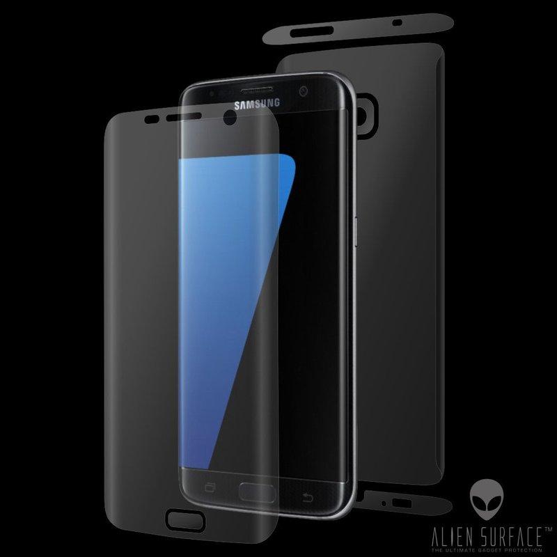 Folie 360° Samsung Galaxy S7 Edge Alien Surface XHD, Ecran, Spate, Laterale - Clear
