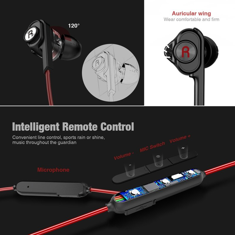 Casti In-ear True Bluetooth/Sport Stereo Uiisii BN60 - Black