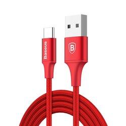 Cablu de date Type-C Baseus Rapid 2A, 1M Lungime Cu Invelis Textil - CATSU-B09 - Red