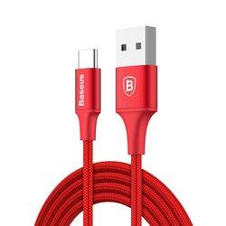 Cablu de date Type-C Baseus Rapid 2A, 2M Lungime Cu Invelis Textil - CATSU-C09 - Red