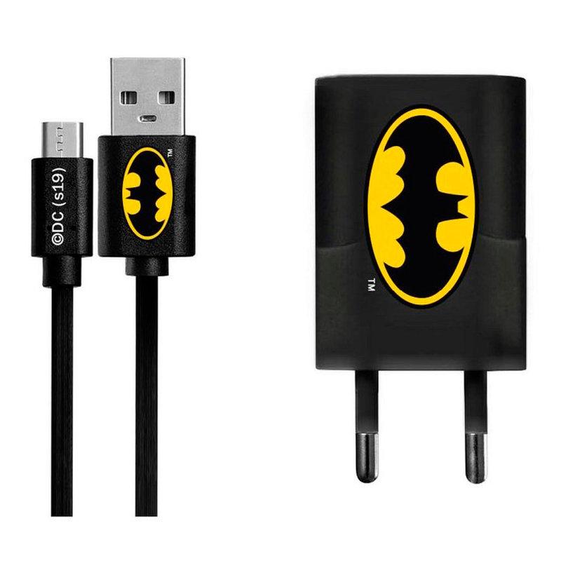 Incarcator Priza Cu Licenta DC Comics 1.0A + Cablu Micro-USB - Bat-Signal