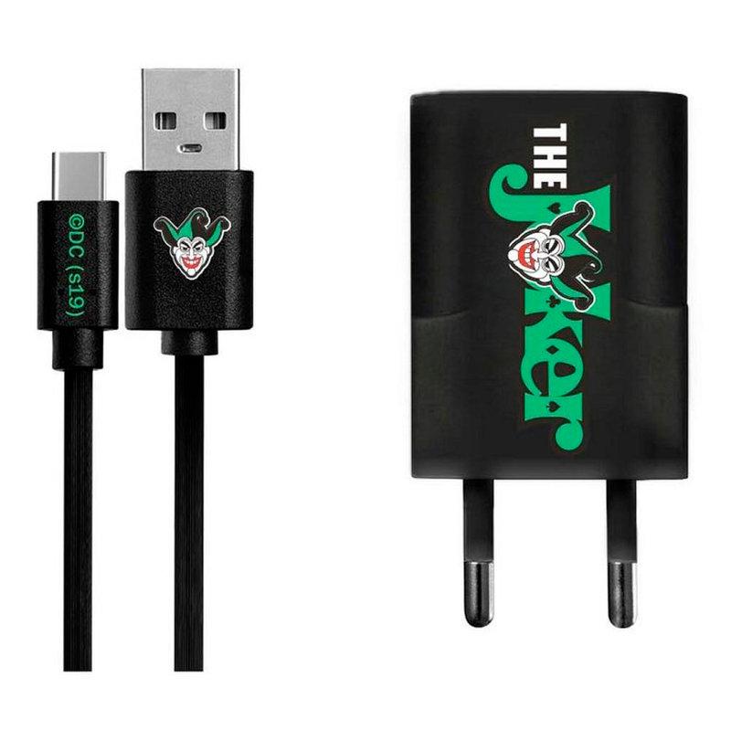 Incarcator Priza Cu Licenta DC Comics 1.0A + Cablu Type-C - The Joker