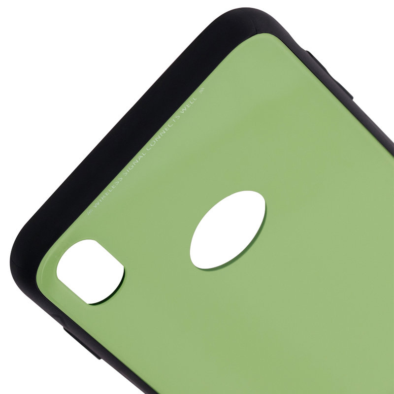 Husa iPhone XS Max Glass Series - Verde