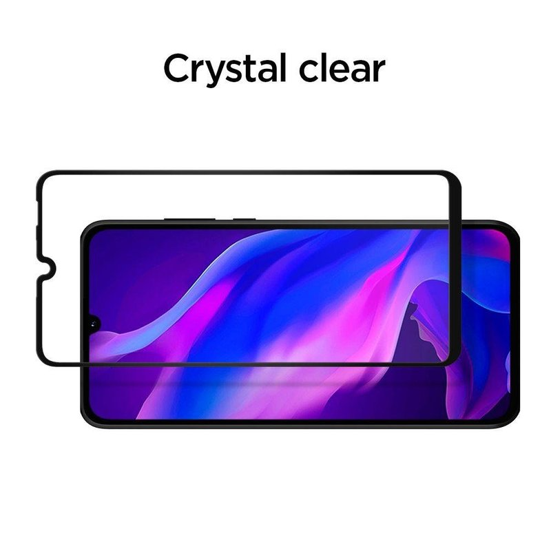 Folie Protectie Huawei P30 Lite Spigen Glas.TR FullCover Cu Rama - Negru