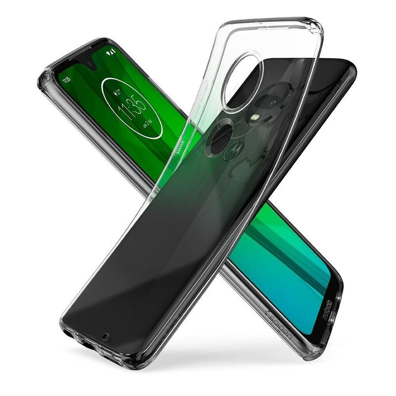 Husa Motorola Moto G7 Plus Spigen Liquid Crystal - Clear