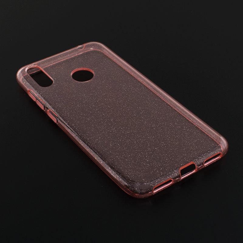 Husa Huawei Y7 2019 Silicon Crystal Glitter Case - Roz