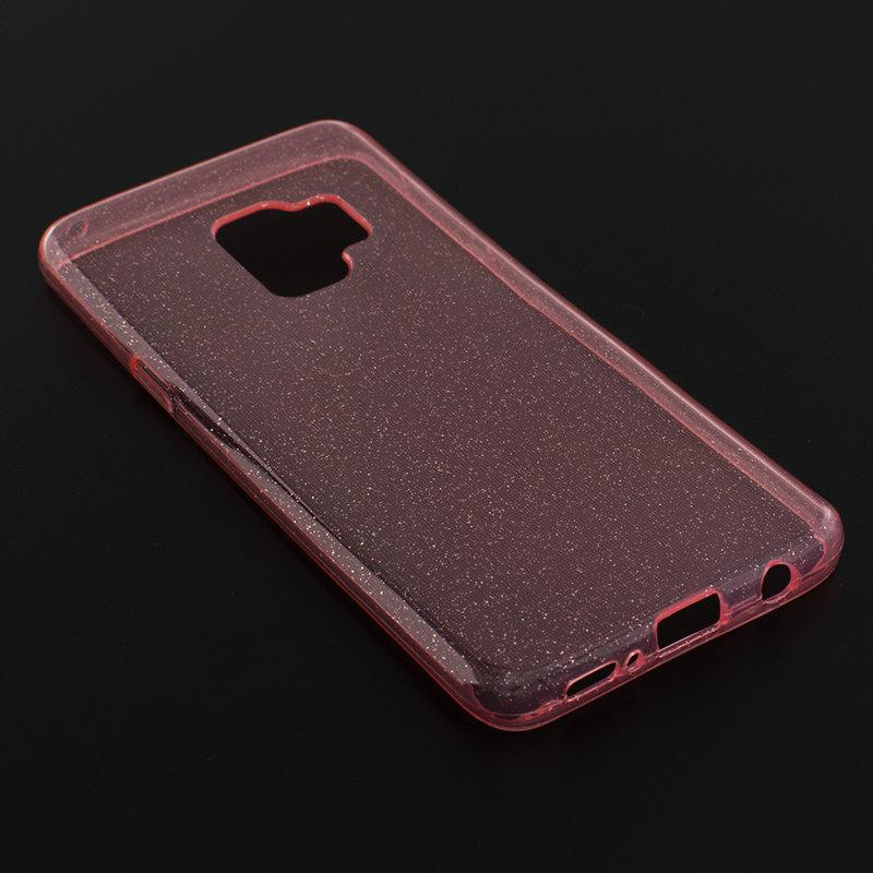 Husa Samsung Galaxy S9 Silicon Crystal Glitter Case - Roz