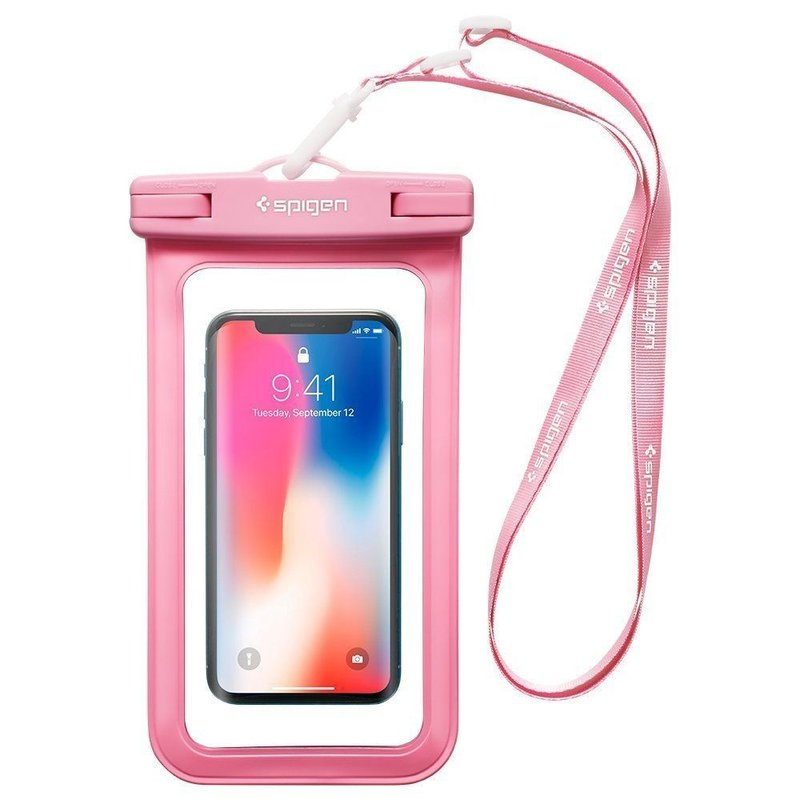 Husa Subacvatica Pentru Telefon, Waterproof Cu Inchidere Etansa Spigen A600 Universal - Pink