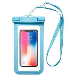 Husa Subacvatica Pentru Telefon, Waterproof Cu Inchidere Etansa Spigen A600 Universal - Blue