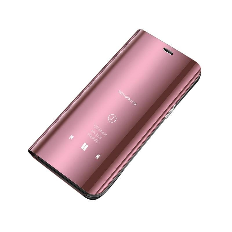 Husa Huawei Y6 2019 Flip Standing Cover - Pink