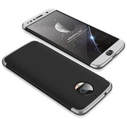 Husa Motorola Moto G5S Plus GKK 360 Full Cover Negru-Argintiu