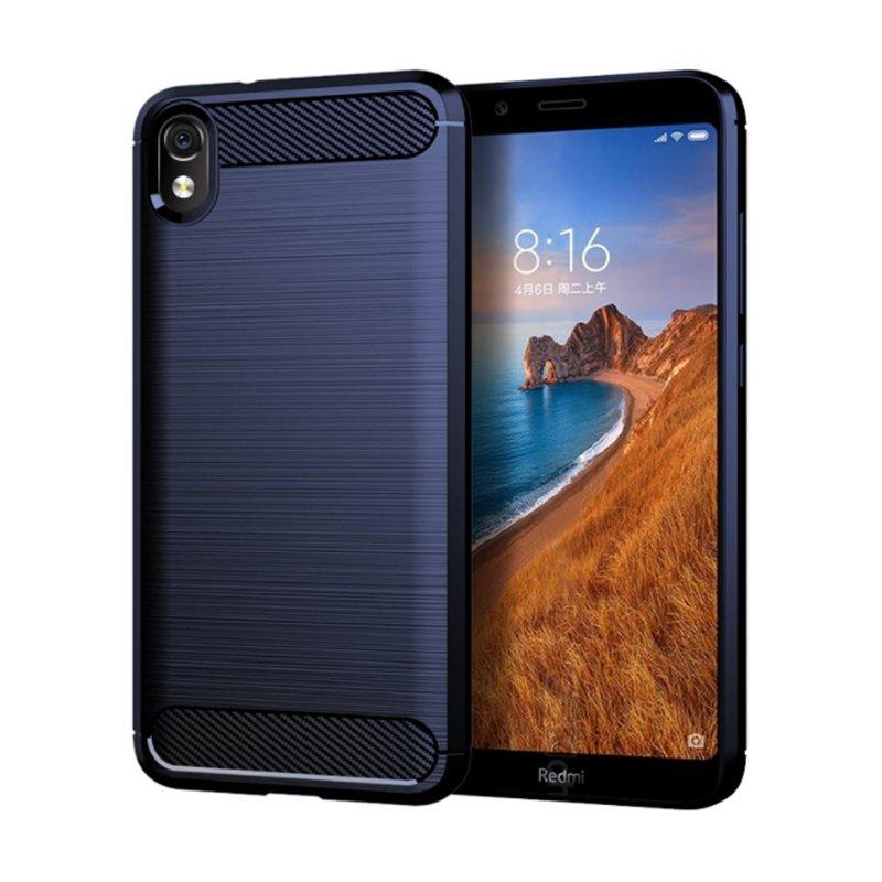 Husa Xiaomi Redmi 7A TPU Carbon Albastru