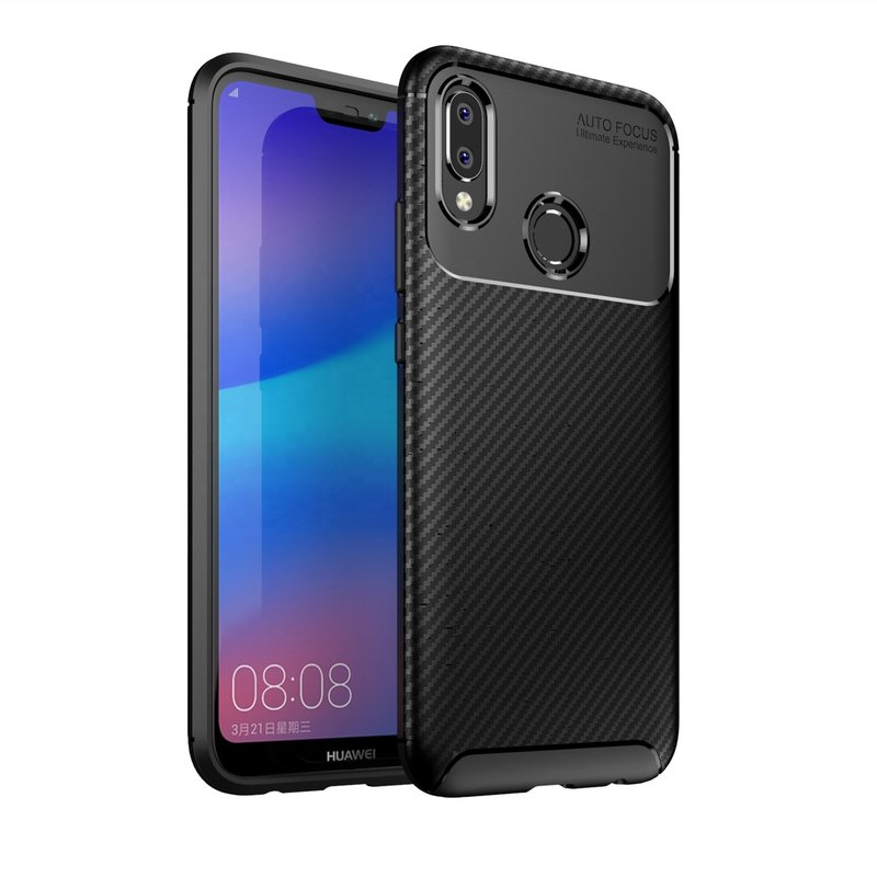 Husa Huawei P20 Lite Mobster Carbon Skin Negru