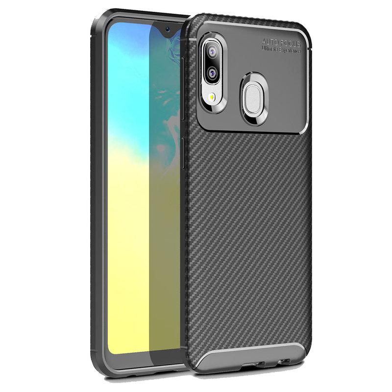 Husa Samsung Galaxy A20e Mobster Carbon Skin Negru
