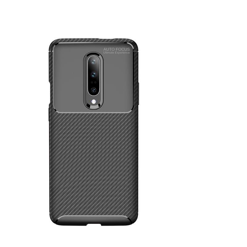 Husa OnePlus 7 Pro Mobster Carbon Skin Negru