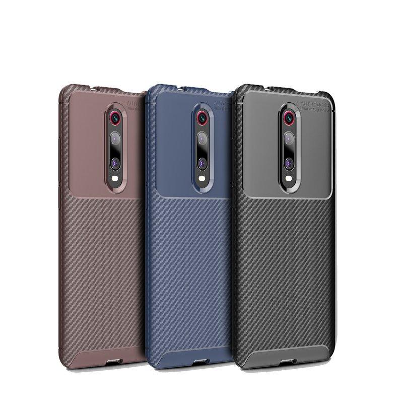 Husa Xiaomi Mi 9T Mobster Carbon Skin Negru