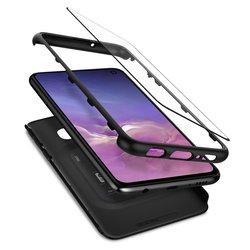 [PACHET 360°] Husa + Sticla Samsung Galaxy S10e Thin Fit SPIGEN  - Negru