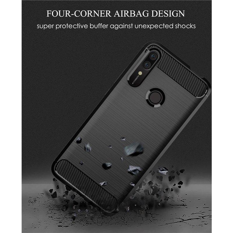Husa Huawei P Smart Z TPU Carbon Negru