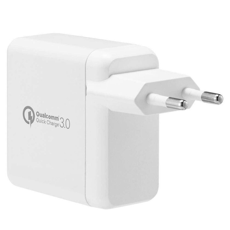 Incarcator Priza Spigen Essential F207 Quick Charge 3.0 Dual Port USB - White