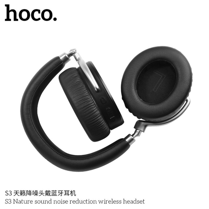Casti On-Ear Bluetooth Cu Microfon Hoco S3 Intelligent Noise Reduction - Negru