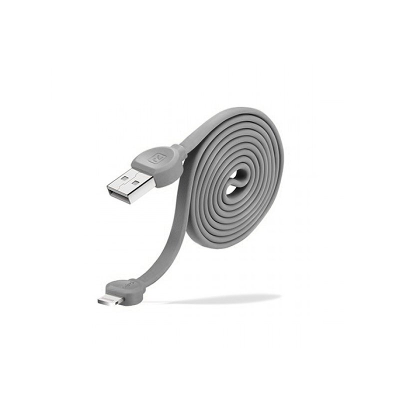 Cablu de date 1M Recci RCL-D100 USB to Lightning Fast Charging - Grey