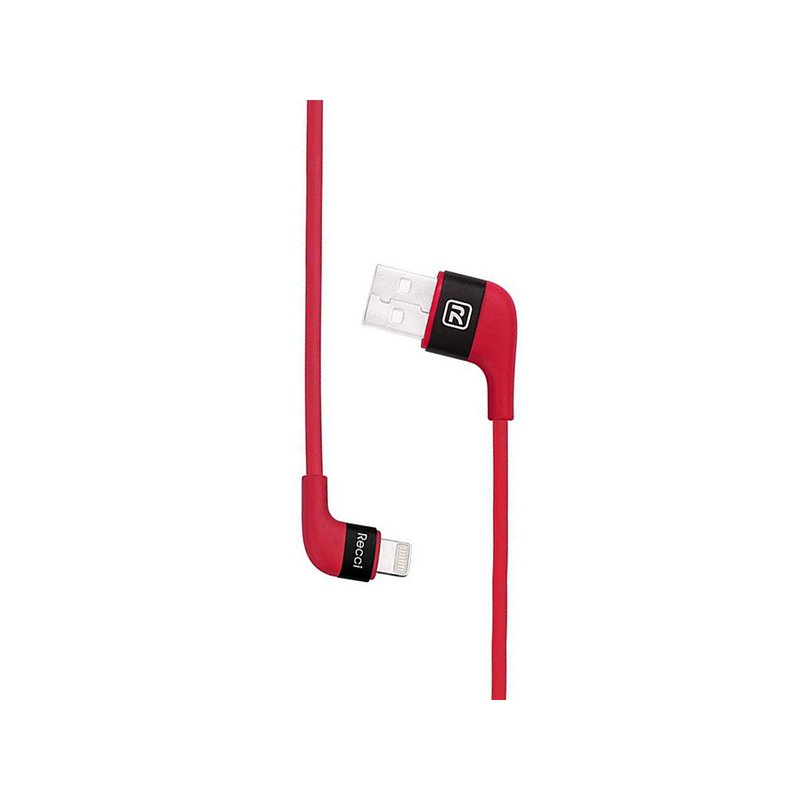Cablu de date 1M Recci RCL-J100 USB to Lightning Fast Charging - Red