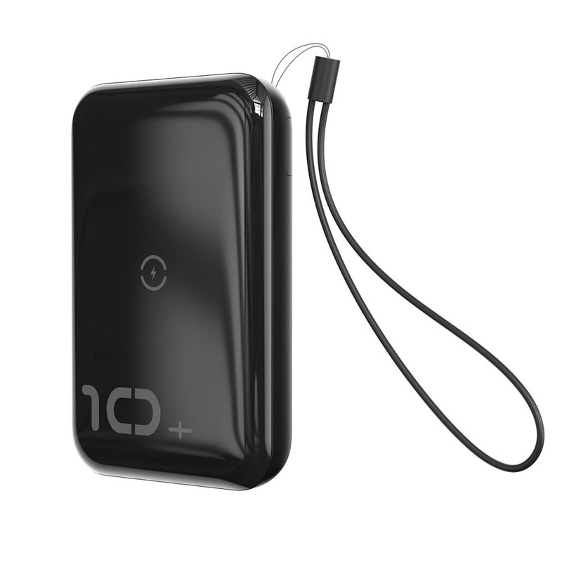 Baterie externa Baseus Mini S Bracket Power Bank 10000mAh 18W / Wireless Charger Qi 10W - Black