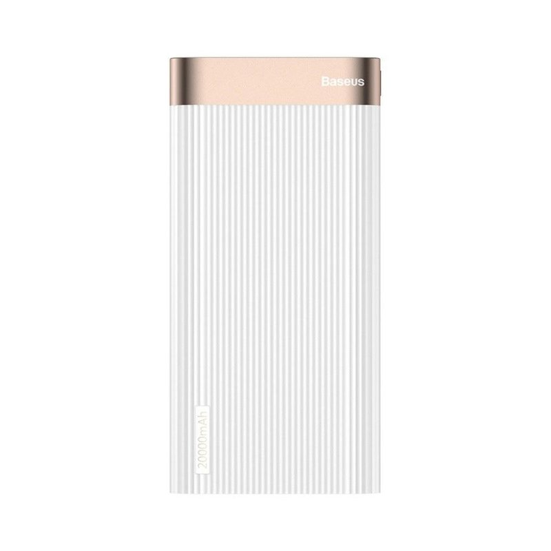 Baterie externa Baseus Parallel 20000mAh 18W Type-C PD+Quick Charge 3.0 QC - White PPALL-APX02