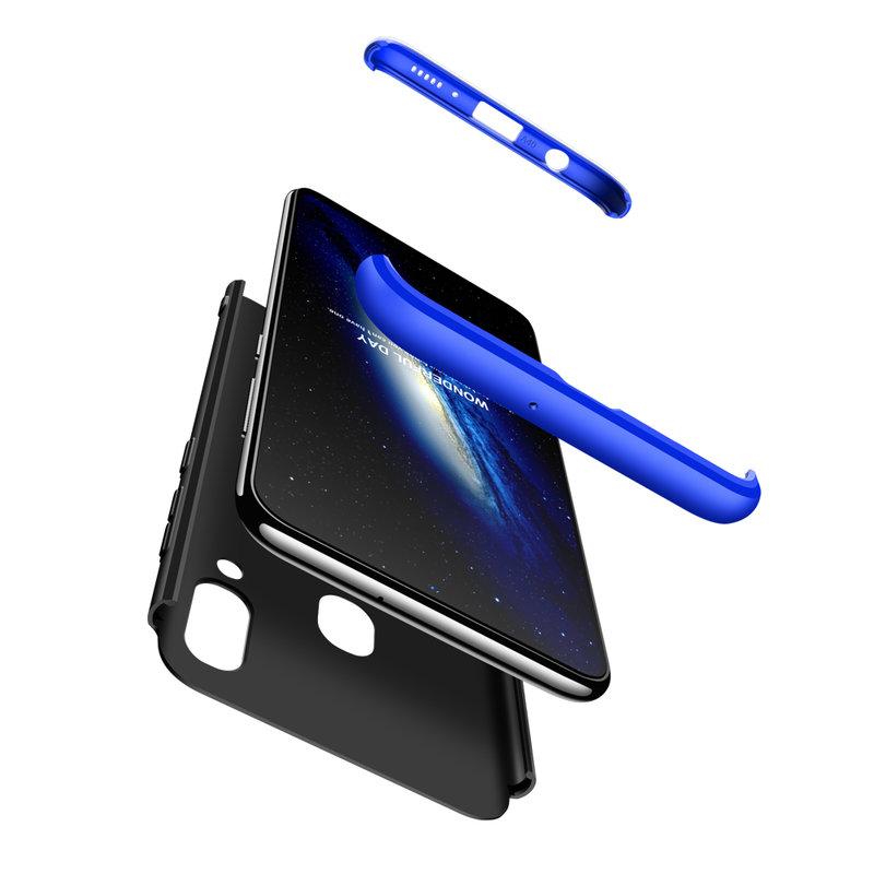 Husa Samsung Galaxy A40 GKK 360 Full Cover Negru-Albastru