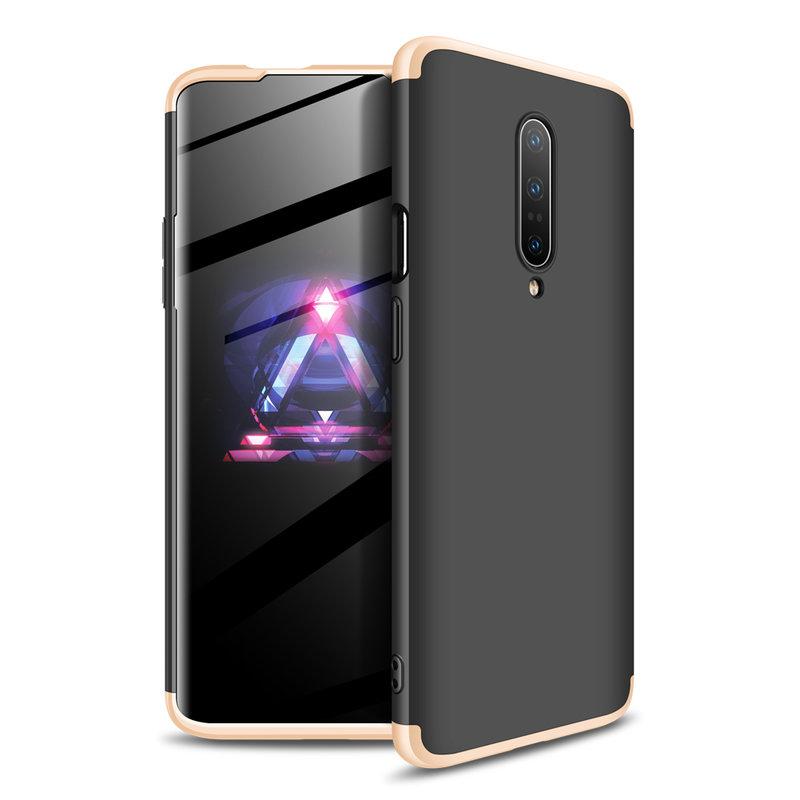 Husa OnePlus 7 Pro GKK 360 Full Cover Negru-Auriu