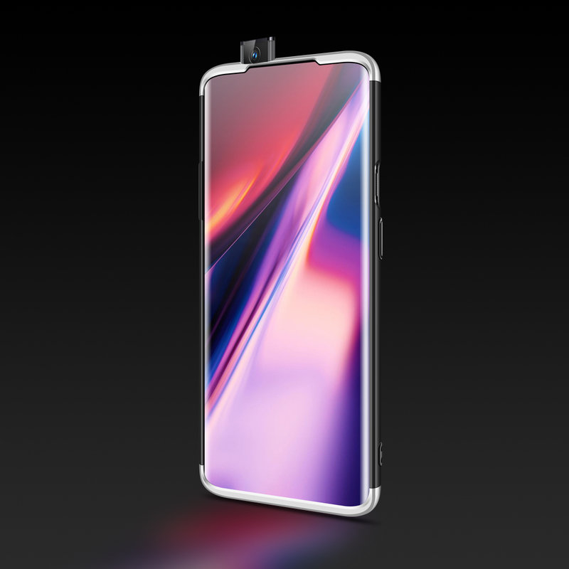 Husa OnePlus 7 Pro GKK 360 Full Cover Negru-Argintiu