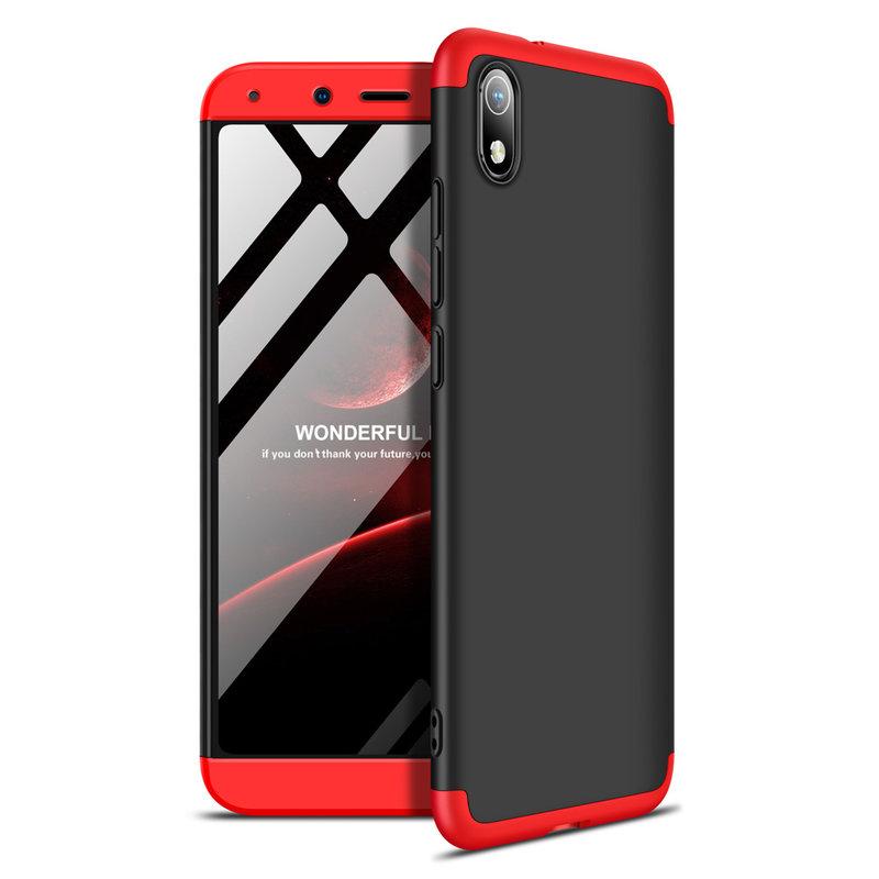 Husa Xiaomi Redmi 7A GKK 360 Full Cover Negru-Rosu