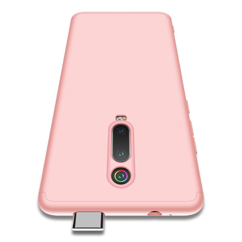 Husa Xiaomi Mi 9T GKK 360 Full Cover Roz