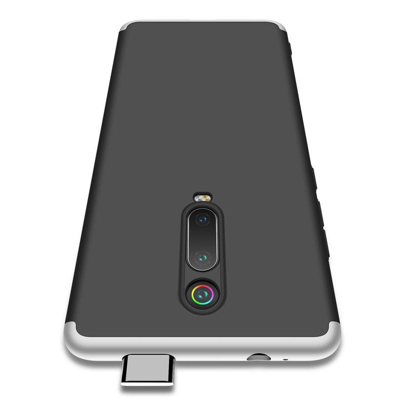 Husa Xiaomi Mi 9T GKK 360 Full Cover Negru-Argintiu
