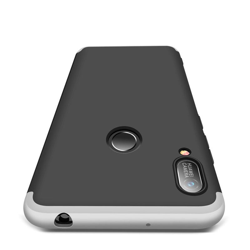 Husa Huawei Y6 2019 GKK 360 Full Cover Negru-Argintiu