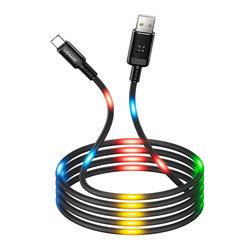Cablu de date 1M USAMS U16 Voice Control USB to Type-C - US-SJ287 - Gray