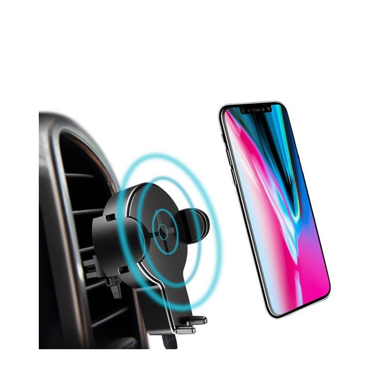 Suport Auto Cu Functie De Incarcare Wireless Rock W2 - Negru