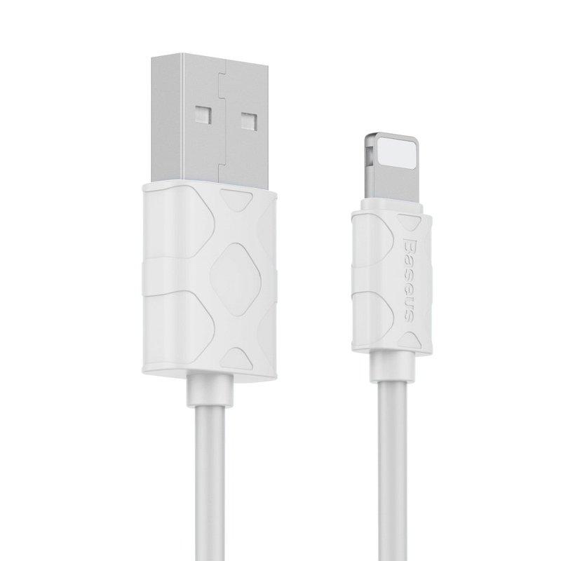 Cablu de date Lightning Baseus Yaven Fast Charge 2.1A/100cm - White CALUN-02
