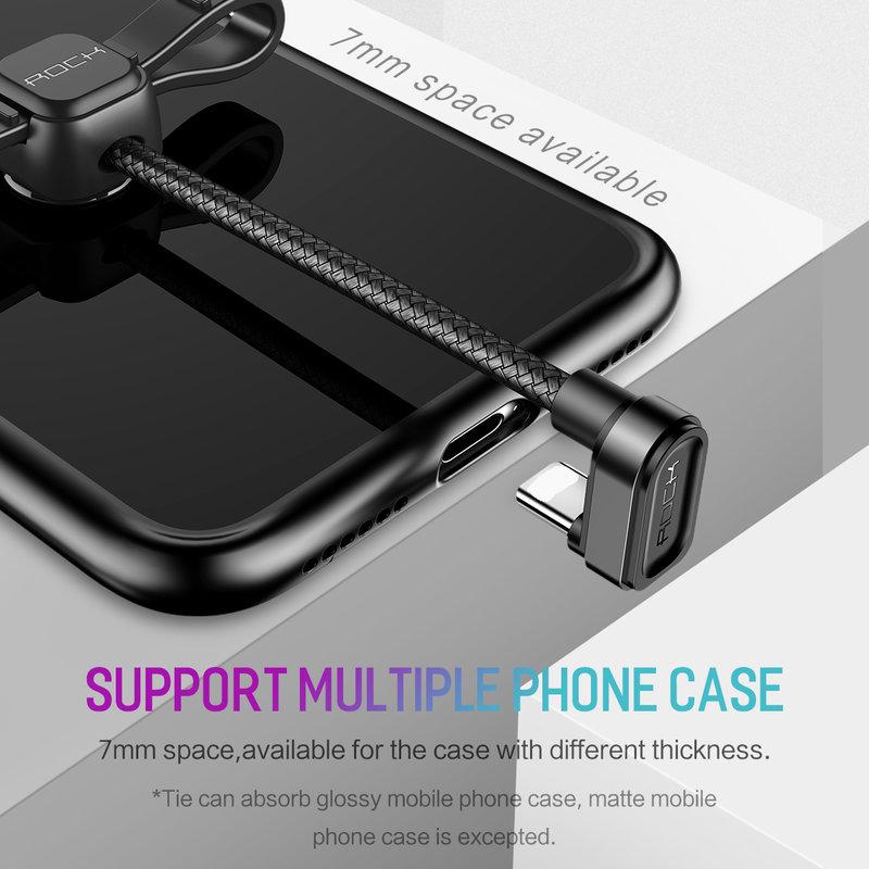 Cablu de date Rock USB to Type-C U-shaped Metal 1M - RCB0584 - Black