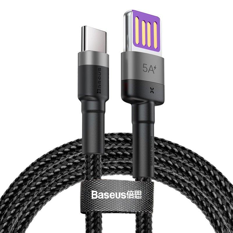 Cablu de date Type-C Baseus Cafule HW Quick Charging 40w/100cm -CATKLF-PG1- Grey/Black
